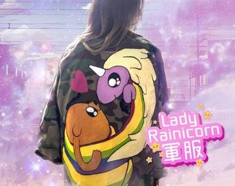 RAINICORN | Adventure time custom denim jacket