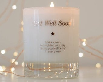 Get Well Gift, Get Well Soon Gift, Feeling Better, Well Wishes Gift, Thinking Of You, Scented Candles, Make A Wish To Get Well Soon