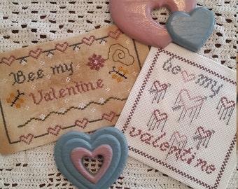 Pattern Valentine Cross stitch set, Be my Valentine set, Cross stitch, Needlework, Valentines, Pdf pattern, Valentine Set