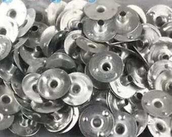 """100pcs  wick tabs sustainer 12mm x 3mm   1/2"""" diameter   L23"""