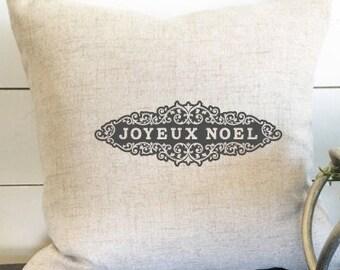 Joyeux Noel Pillow Cover, Christmas Pillow, Joy Pillow, Christmas Gift, Gift, Christmas Decor