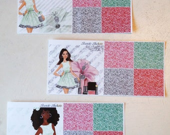 beauty girl add-on | glossy || planner stickers for erin condren and happy planner