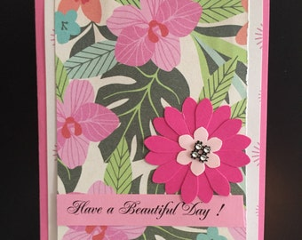 Have a Beautiful Day Note Cards.  HANDMADE NOTE CARDS set of 6 cards (A4) with envelopes.