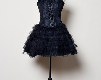 Black Ballerina Dress with Corset