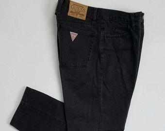 Vintage Guess Stone Washed Jeans Size 32X25 Made In USA