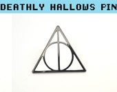 DEATHLY HALLOWS PIN - Lapel Pin Thunder Lightning Fantastic beasts Gryffindor Brooch Clothes Badge Costume Harry Potter Dumbledore Birthday