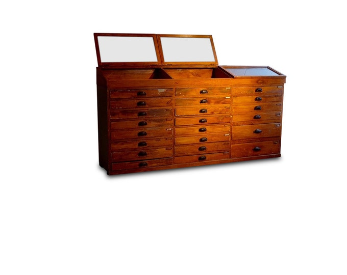 Wooden Storage Flip Top Glass Display