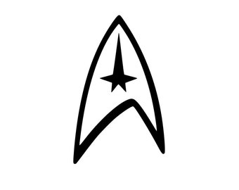 Star Trek Decal | Star Trek Logo | Yeti Decal | RTIC Decal | Federation | Voyager | Enterprise | Deep Space 9 | Next Generation | Laptop