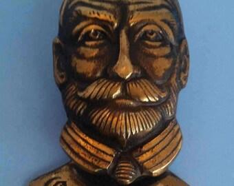 Antique Cast Brass King George V Door Knocker