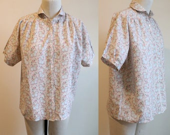 Floral Peter Pan Collar Blouse