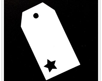 Set of 10 gift tags with star