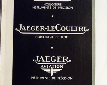 Original Vintage 1937 JAEGER-LeCOULTRE Advert from a French magazine (full page 11'x15'/28x38cm)