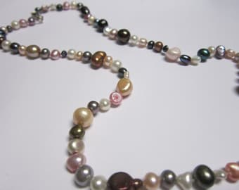 Multi Colored Fresh Water Pearl Necklace