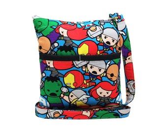 Marvel Avengers Kawaii Crossbody Bag // Sling Bag // Crossbody Purse // Shoulder Bag // Hipster