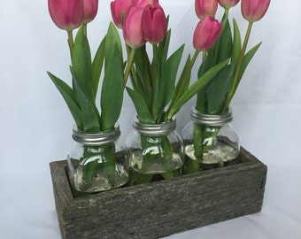 Barn Board Box | Planter Box | Mason Jars | Home Decor | Wedding