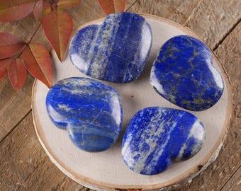 One Medium LAPIS LAZULI Stone Heart - Healing Stone, Heart Rock, Chakra Crystal Heart, Chakra Stone, Lapis Lazuli Heart Stone E0262