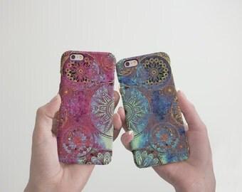 Bohemian Mandala Phone Case iPhone 7 Case Couples Phone 6S Case iPhone 7 6S Plus Case Mandala Lover Gift iPhone 5 5S Case to Samsung cRR_026