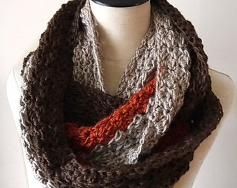 PATTERN | Caramel Infinity Scarf Crochet Pattern | Beginner | Easy Tutorial | PDF Pattern | Soft and Squishy | Loopy Scarf | Includes Photos