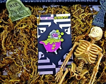 "Limited Edition ""The Mad Bombers"" Bathe 2 The Grave Soft Enamel Pin!"