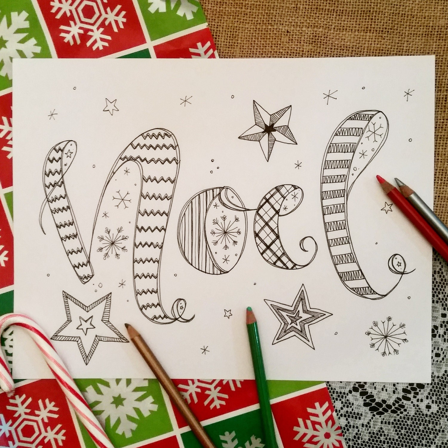 Colouring book for adults singapore - Noel Coloring Page Christmas Coloring Page Zentangle Inspired Coloring Page Zen Doodle Coloring Book Adult Coloring Pages Noel