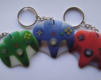 Nintendo 64 (N64) Controller Keychains