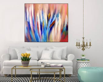 Colorful Wall Art Large Abstract Art Canvas Modern Abstract Painting Giclee Print On Canvas Abstract Print Large Wall Art Print, Ch Prints