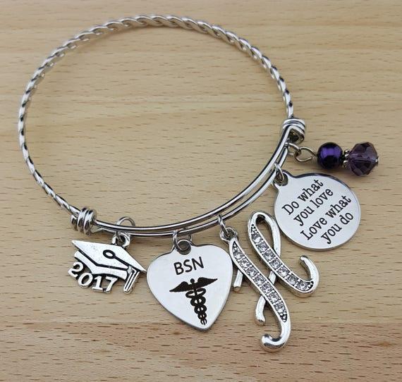 Nurse Graduation Gift Nurse Graduation Bracelet RN Graduation Gift RN Graduation Bracelet BSN Gift for Nurse Do What You Love