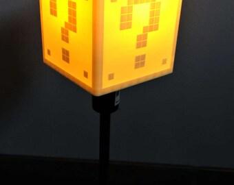 Lamp shade lamp or wall mural Mario question block
