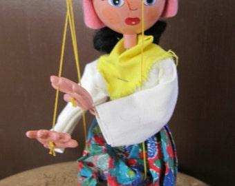 Vintage Pelham Puppet in Original Box, Made in England Puppet, Mother Pelham Puppet, Mother Puppet Marlborough Wilts, Collectible Puppet