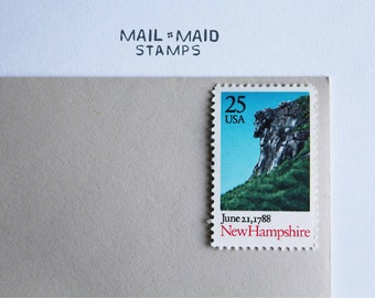 Vintage New Hampshire Postage Stamps (set of 10)