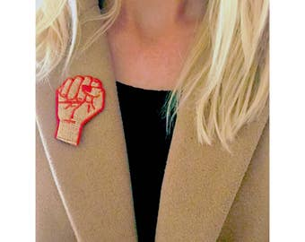 Feminist Patch | Smash the Patriarchy | Patches & Pins | Feminist | Feminism | Girl Power | Riot | Accessory | Grl Power | Iron on Patch