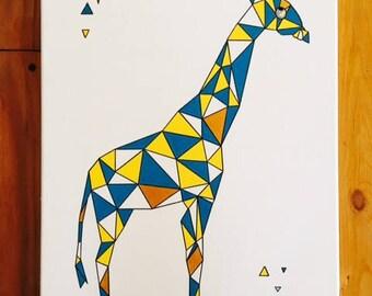 Geometric animal wall chart