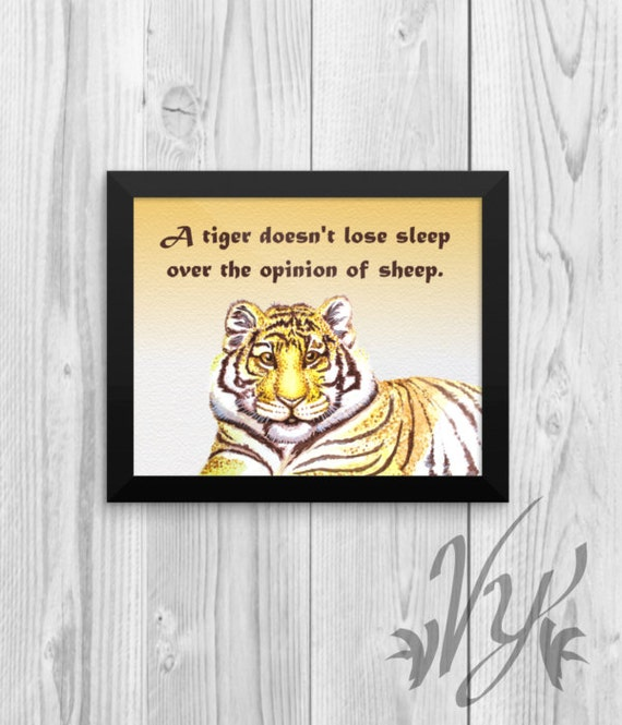 Wall Art For Your Office : Tiger wall art office cubicle decor poster print quote