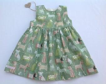 Dog dress, Girls dress, baby girl dress, toddler dress, girls clothing, summer dress, baby shower,  newborn to 3 years, handmade