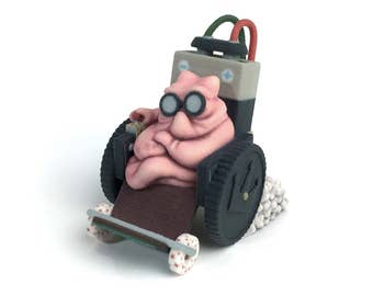 Gum from Sausage Party: 3D Printed Figure - Funny Animated Cartoon Character