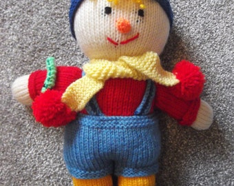 Handknitted Sonny the Scarecrow Jean Greenhow