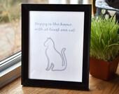 """Printable Cat Art, """"..."""