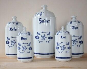 Dutch Inventory pots Coffee, Tea, Sugar