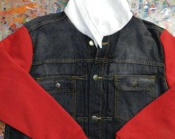 Custom jean Jacket M