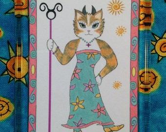 Taurus Cat Magnet - Astrological Cat Magnet - Zodiac Cat Magnet - Taurus Magnet