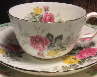 Pretty in Pink-Adderley Teacup and Saucer
