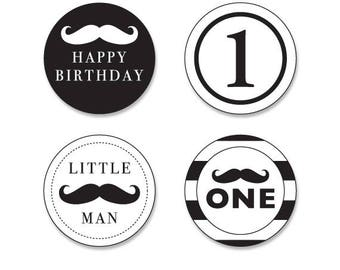 little man cupcake toppers,mustache cupcake toppers,printable little man cupcake toppers,littleman birthday,balck and white little man party
