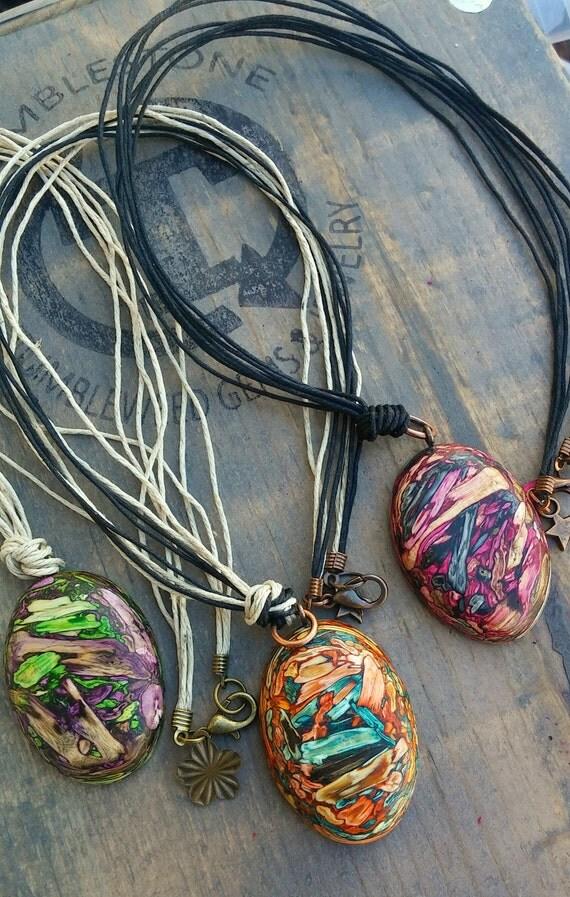 Natural Hemp Tumbleweed Necklace