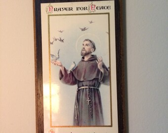 """Saint Francis of Assisi """"Prayer for Peace"""" Wall Plaque"""