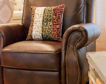Arabic calligraphy patchwork pillow - decorative pillow - arabic - arabic home decor