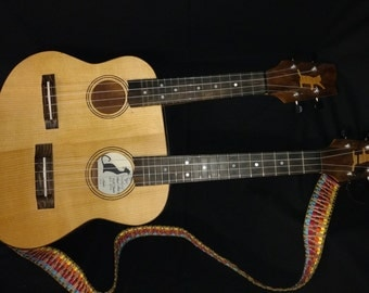 "Black Kat Ukulele ""Tenorano"" Double Neck Ukulele"