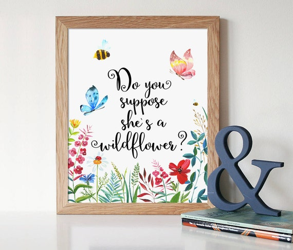nursery decor do you suppose she 39 s a wildflower alice in wonderland