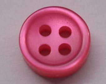 10 small buttons pink 9mm (3261) blouse buttons
