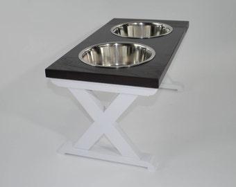 Large - Dog Bowl Stand - Raised Dog Feeder - Farmhouse Table - Elevated Dog Feeder - Dog Feeder - Dog Bowl Holder - Dog Bowl  - Pet Stands
