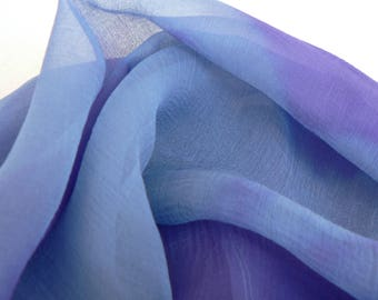 NEW! Pure Silk Chiffon Scarf - 'Lavender Sky' - Handmade and Hand dyed